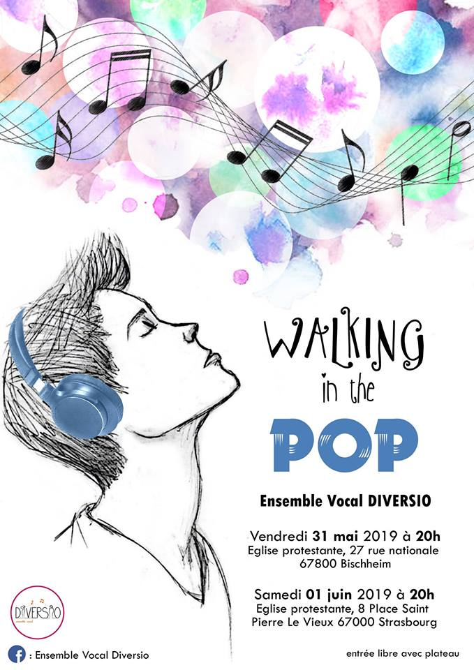 Affiche walking in the pop diversio
